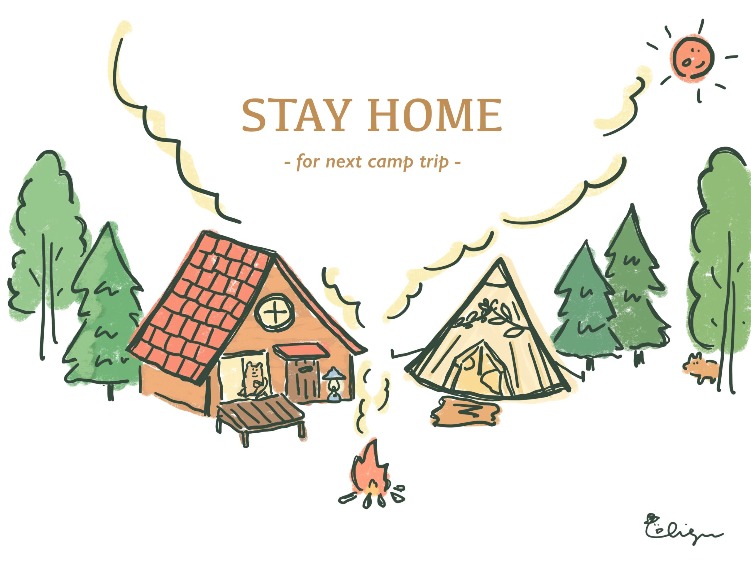STAY HOME イラスト